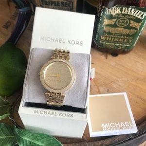 NIB Genuine MICHAEL KORS Gold Champagne Face Watch